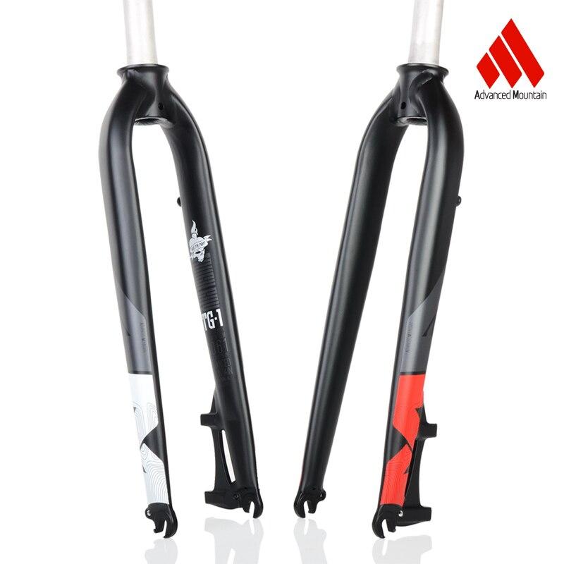 "Mountain Bike Fork Rigid MTB Bicycle Suspension Air Fork 26//27.5//29/"" Disc Brake"