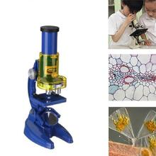 New Microscope Kit Lab LED 100X 200X 450X Home School Educational Toy Gift Biological Microscope Kids Children Toy Gift