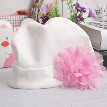 Baby Girls Infant Toddler Flower Hat Cotton Soft Hast Caps Gift Useful Hat Cute Flower Hats(China)
