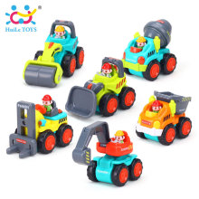 HUILE TOYS 3116B 12Pcs/Set Mini Engineering Car Tractor Toy Dump Truck Model Classic Toys for Children Xmas Gift for Boys
