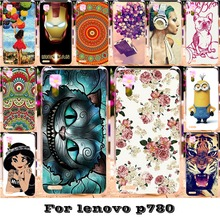 Soft Silicon TPU or Plastic Phone Cases For Lenovo P780 5 inch P 780 Cases 18 Style Painted Protective Durable Bag Back Covers