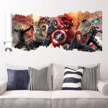 lovely handsome 3D cartoon movie Avengers Captain home decal wall sticker boy love kids room decor child birthday festival gifts