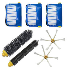 Aero Vac Filter + Side Brush 6 armed kit for iRobot Roomba 500 600 Series 529 552 595 620 630 650 660 Vacuum Cleaner Parts
