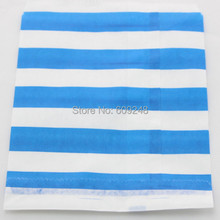 100pcs Mixed Colors Cheap Holiday Buffet Candy Royal Blue Sailor Striped Mini Paper Favor Bags