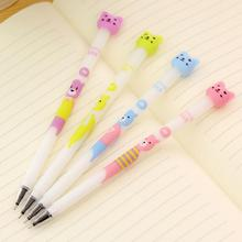 1 Piece Korean Stationery Cartoon Cute Bear Erasable Pen Advertising Creative Bent School Office Gel Pens Christmas gift