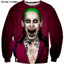 PLstar Cosmos 2017 new autumn Batman The Joker DC Comics Superhero sweatshirt 3D long sleeve 0-Neck pullover funny sweatshirts(China)