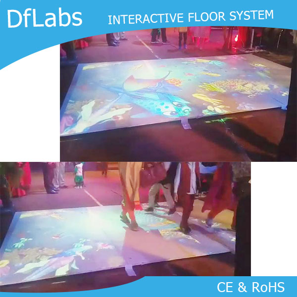DefiLabs DEFI Interactive Floor Projection for Shopping Mall, Supermarket( 118 different effects ),Kids amusement