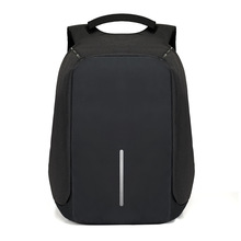 Dropshipping Male Laptop Backpack USB Charging Men Anti-theft Notebook 15inch Waterproof Backpacks Fashion Travel Bobby Backpack(China)
