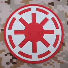 red background luminous design STAR WARS Galactic Republic IMPERIAL Logo Military Tactics 3D PVC patch Badges PB1506