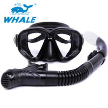 2017 Water Sports diving mask snorkel Equipment Anti-Fog Silicone Diving Mask Snorkel set MK500+SK900B