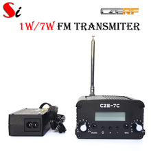 CZE-7C 7W stereo PLL FM transmitter broadcast radio station +PS Ant kit(Hong Kong)