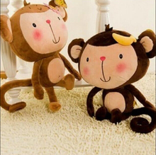 Lovely Monkey Plush Toy YOYO and CICI Girl and Boy Monkey 35CM Per Piece Free Shipping Stuffed Doll