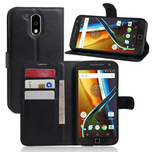 For Motorola Moto G4 Plus Phone Cases Wallet Flip PU Leather Case Cover For Moto G4 Plus Case  Stand Cell Phone Cover