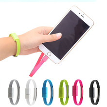 New 8 Pin USB Data Sync Charger Cable Bracelet Wristband For iPhone