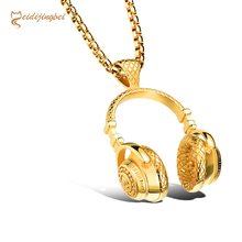 MEIDIJINGBEI New fashion rock style titanium steel headset pendant stainless steel men's necklace a generation of hair