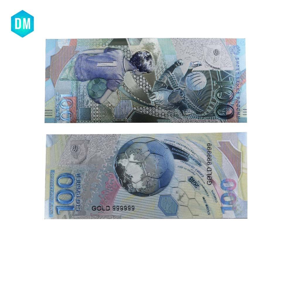 100 rubles Russia 2018 FIFA World Cup Russia Original Polymer UNC