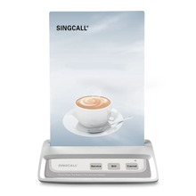 SINGCALL Wireless Calling System, 3 keys button ,coffee shop, restaurant service ,white color