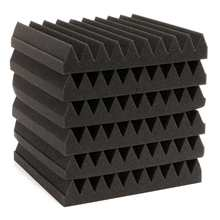 6 Pack Soundproofing Acoustic Wedge Foam Tiles Wall Panels  Functional Material Suitable for listening room