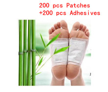 400 Pcs/lot Detox Foot Patches Pads Body Toxins Feet Cleansing Herbal Adhesive (200pcs Patches+200pcs Adhesives)(China)