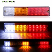 2pcs 12V Waterproof 20leds ATV Trailer Truck LED Tail Light Lamp Yacht Car-Trailer Taillight Reversing Running Brake Turn Lights