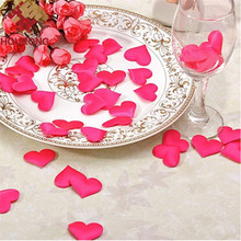 100pcs/Pack  Mini Heart Sponge Wedding Flower Petals Artificial Table Throwing Confetti Party Room Decoration  2*1.5cm 6 Color