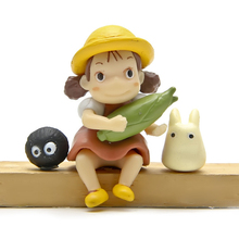Miyazaki Hayao My Neighbor Totoro Mei Fairy Dust Mini Figures PVC Action Figure Toy Classic Model Toys Gift for Kids 3pcs/lot(China)