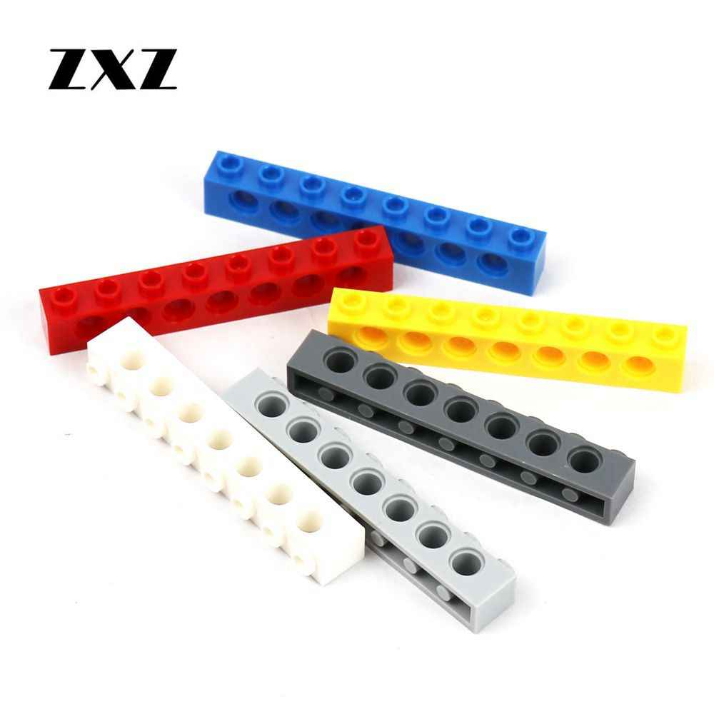 7 Hole Brick Lego Technic 8 x YELLOW Beams 8 pin