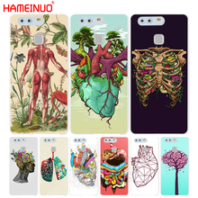 HAMEINUO CASE DESIGNS HUMAN ANATOMY Cover phone Case for huawei Ascend P7 P8 P9 lite plus G8 G7 honor 5C 2017(China)