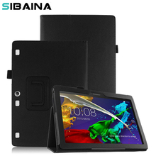 Flip PU Leather Stand Cover Case for Lenovo Tab 2 A10 A10-30 A10-30F X30L X30F 10.1 Tablet Case  cover for Lenova fundas