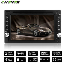 "6.2"" GPS Navigation HD Car CD DVD Player Touch Screen Radio Stereo Bluetooth MP3 MP4 MP5 USB SD Rearview Camera in Dash  + Camer"