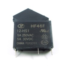 HF Relay 5A 4Pin HF46F-5-HS1 HF46F-12-HS1 HF46F-24-HS1 Power Relay A Normally Open 5 12 24 VDC 5A 250VAC New Original 10pcs/lot