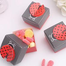 Fast Delivery 10 Pcs/lot Factory Directly Sale Wedding Favor Box Lovely Ladybug Candy Box Wholesale