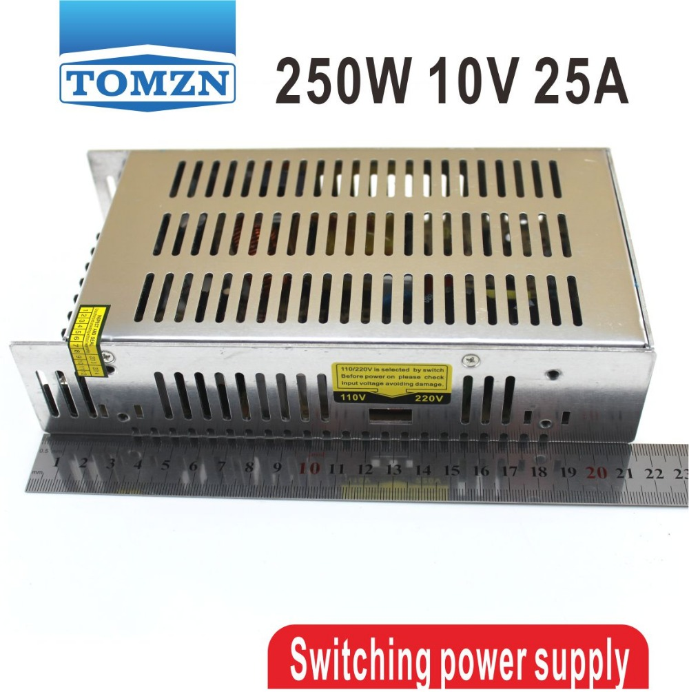 250W 10V 25A Single Output Switching power supply for LED Strip light AC to DC<br>