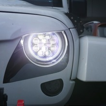 7inch Halo LED Healights w/ Blue DRL Angel Eyes for 07 - 17 Jeep Wrangler JK & Wrangler Unlimited(China)
