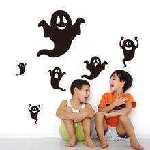 Happy Halloween Black Ghost Wall Sticker Window Home Decoration Decal Decor large wall posters door glass stickers nt0