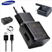 100% Original EU/UK/US/Plug Wall fast Charger+1.5 m micro usb cable For SamSung Galaxy Note 4/5 S5/s6/s7 S6 EDGE S7 EDGE(China)