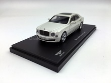 Kyosho 1:43 Bentley Mulsanne Speed 2016 (Pearl White) Diecast Model Car Simulation Model Mini Vehicle Collectable