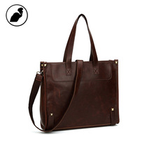 ETONWEAG Cow Leather Bags Handbags Women Famous Brands Brown Vintage Crossbody Shopping Bag Big Capacity Shoulder Laptop Bag