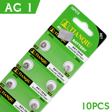 Sale 10pcs For watch Button Battery AG1 364 SR621 SR60 SR60L Alkaline Coin Cell Button Batteries 1.55V sr621sw watch battery(China)