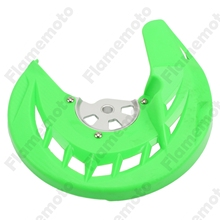 Motorcycle Green Front Brake Disc Rotor Guard Cover For Kawasaki KX125 250 2006-2008 KLX450R 2008-2009 KX 250F 450F 2006-2017