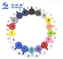 "Best Quality!!! 50pcs/lot Free Shipping adjustable 27"" Round Retractable ID Reel Key Chain Badge Holder(China)"