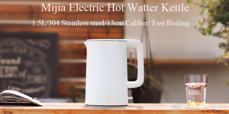 2017 New Original Xiaomi Mijia Electric Water Kettle Temperature Water 1.5L 304 Stainless Steel Fast Boiling Not Smart Kettle