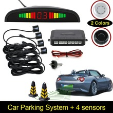 Car Auto LED Display Reverse Backup Radar System Buzzing Sound Warning with 4 Parking Sensors(China)