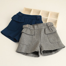 Baby Girls Shorts 2017 Autumn Kids Shorts Korea Childrens Clothes Fashion High-grade Fall Clothing