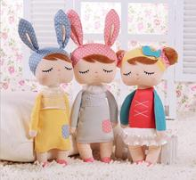 Angela rabbit dolls Metoo 34cm baby plush toy doll sweet cute lovely stuffed toys Dolls for kids girls Birthday/Christmas Gift