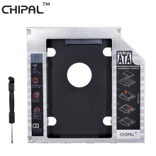 CHIPAL Aluminum SATA 3.0 2nd HDD Caddy 12.7mm 2.5 Inch Hard Disk Drive Enclosure SSD Case With LED for Laptop ODD Optical Bay(China)