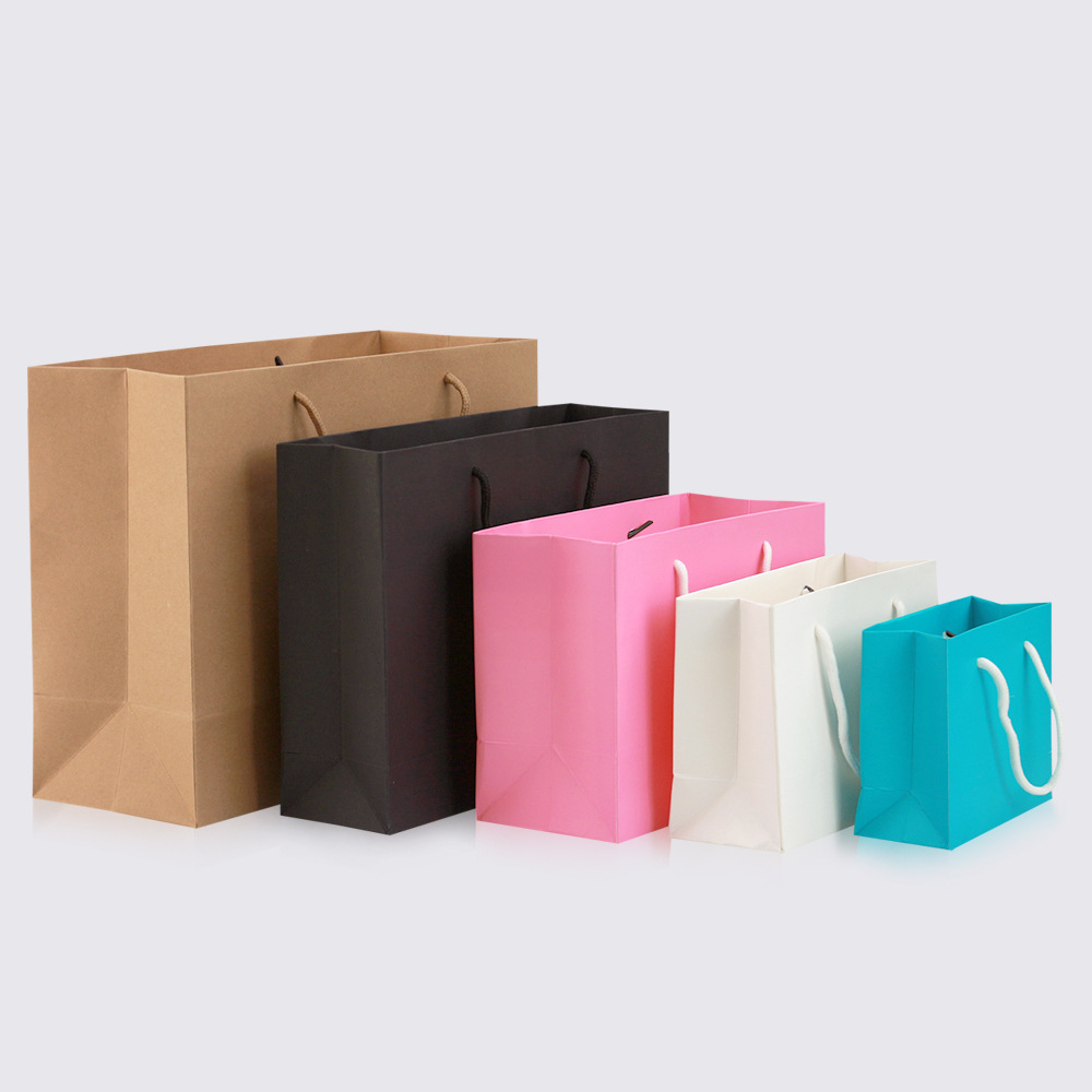 Paper bags with handle [ 100 Piece Lot ] 5