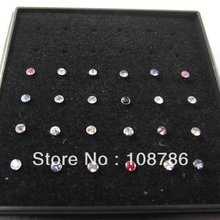 24pcs Colorful Nostril Nose Ring nose stud Mixed Colors piercing nose ring  jewelry,labret jewelry