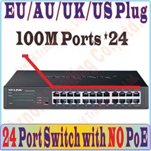 Plug and Play, 24 ports fast 100Mbps desktop Switch without POE port, For NVR and CCTV IP Cameras / wireless AP, Metal Cabinet(China)