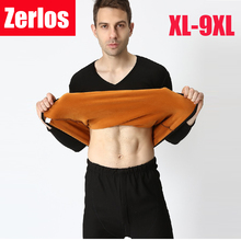 Buy plus Size XL-9XL 2017 autumn winter men thicken thermal underwear men long johns gold velvet soft V-neck warm suits for $29.15 in AliExpress store